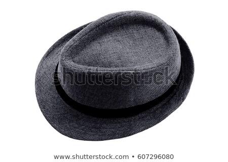 ヴィンテージ · グレー · 帽子 · 黒 · 服 - ストックフォト © saddako2