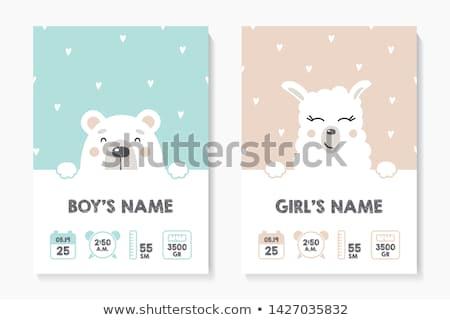 welkom · baby · aankondiging · kaart · verjaardag · achtergrond - stockfoto © balasoiu