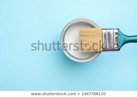 Stockfoto: Verf · kan · oud · hout · hout · tools