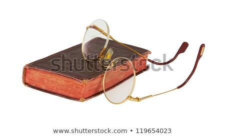 alfabeto · óculos · leitura · velho · amarelo · papel - foto stock © michaklootwijk