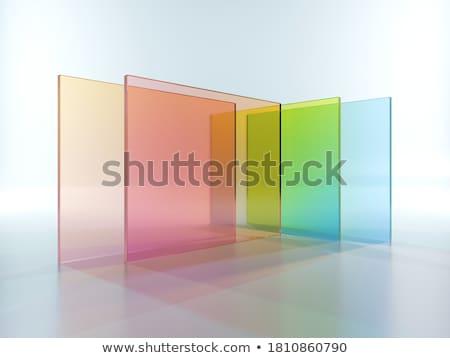 Renkli cam pencere müze çağdaş sanat Stok fotoğraf © Lynx_aqua