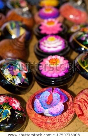 Fiore souvenir sapone Thailandia sfondo arte Foto d'archivio © bbbar