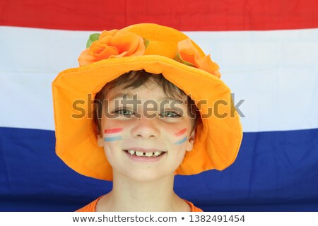 flag paint on face stock photo © stevanovicigor