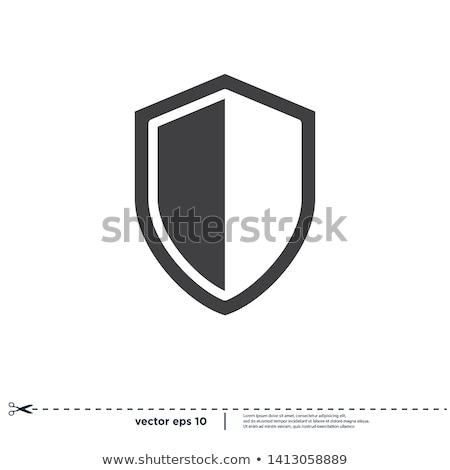Abrigo armas garantía detallado ilustración escrito Foto stock © unkreatives