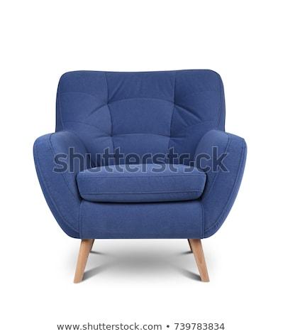 современных кресло пусто стены черно белые вертикальный Сток-фото © ABBPhoto
