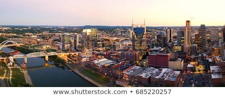 brug · rivier · Tennessee · gebouwen · stedelijke · schip - stockfoto © andreykr