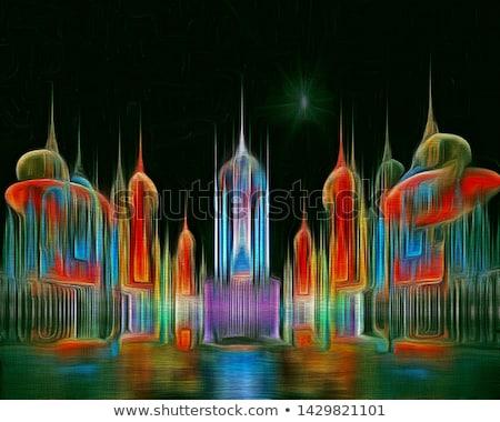 Résumé fractal texture design magnifique Photo stock © ArenaCreative
