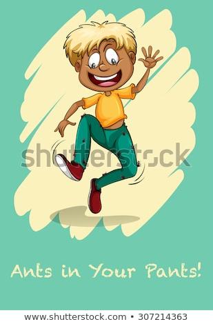 Formiche pants cartoon ragazzo ant Foto d'archivio © blamb