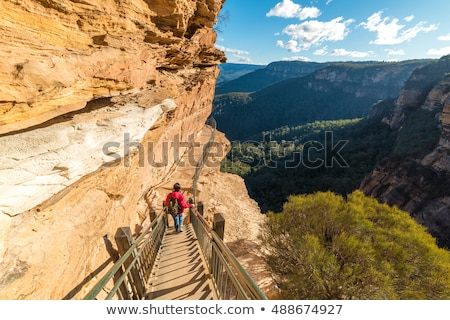 Stock photo: Hiking the National Pass trail Blue Mountains