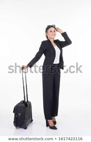 asian business woman posing with case stock photo © elwynn