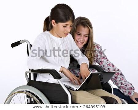 скучно · девушки · ноутбука · ноутбук · домой · люди - Сток-фото © photography33