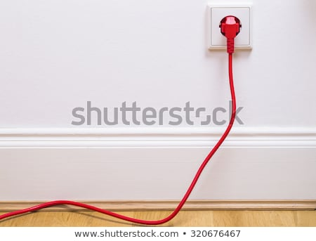 Installing an electrical plug / contact Stock photo © Lighthunter