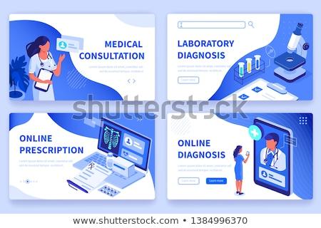 Medicate orvosi gomb modern számítógép billentyűzet 3d render Stock fotó © tashatuvango