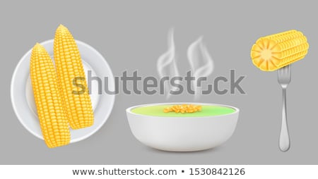 boiled corn porridge stock photo © elmiko