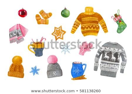 Christmas wol sneeuwpop nieuwe jaren Stockfoto © stevanovicigor