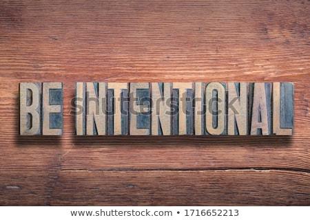 intentions Stock photo © jayfish