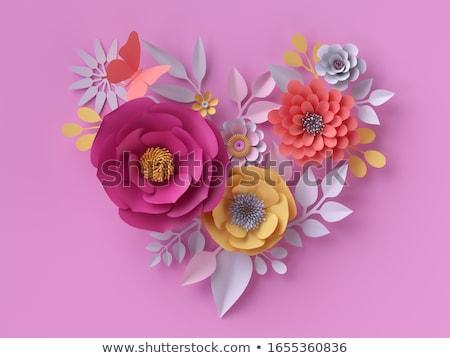 Rood rose Geel daisy bloem decoratie voorjaar Stockfoto © stocker