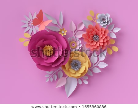 red rose on yellow daisy flower background Stock photo © stocker