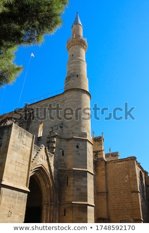 A  minaret of turkish mosque in old town of Nicosia Stock photo © Kirill_M