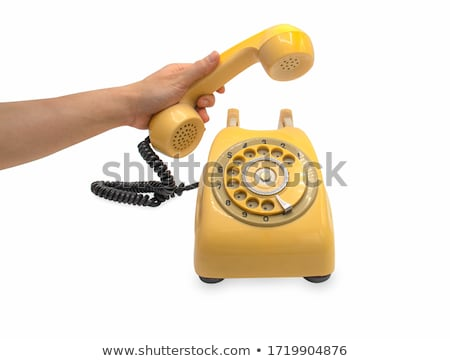Hand holding telephone receiver Stock photo © stevanovicigor