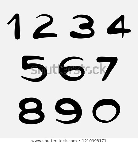 Vector hand drawn spray can graffiti grunge numbers Stock photo © odes