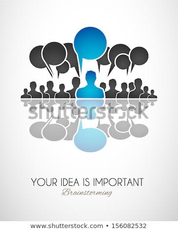 medios · de · comunicación · social · grupo · discurso · vector · mundo · tecnología - foto stock © davidarts