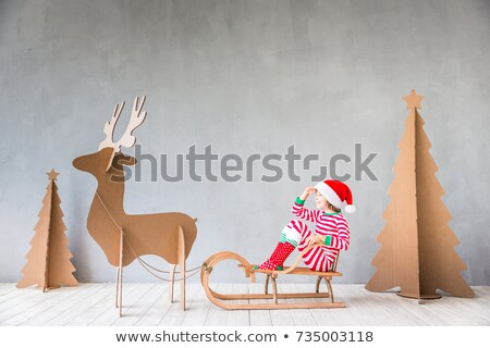 Portrait of happy Santa Claus have an idea Stock photo © HASLOO