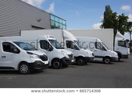 Ticari kamyonlar teslim araçlar vektör ayarlamak Stok fotoğraf © digitalmojito