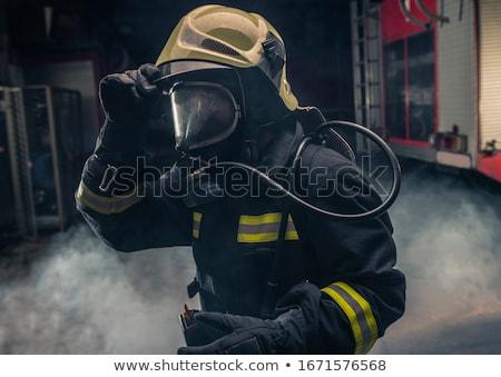 fireman at work on the truck Stock photo © reicaden
