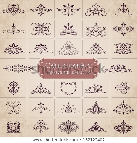 calligraphic design elements and page decoration set 1 stock photo © blue-pen
