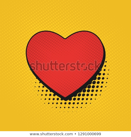 Stock photo: Abstract background with red strip heart - vector illustration