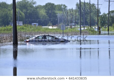 Car Stuck after a Water Flood Stock photo © aetb
