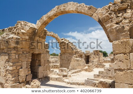 Ruins of Saranta Kolones castle. Paphos, Cyprus Stock photo © Kirill_M