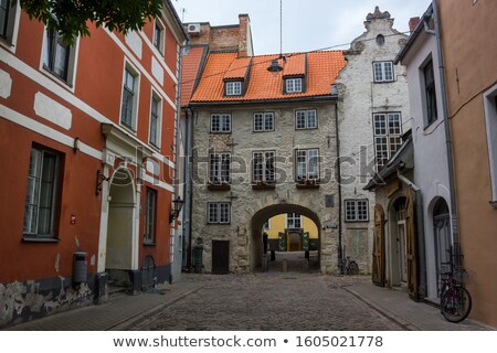 Bisiklet merkez Riga Letonya sokak yeşil Stok fotoğraf © amok