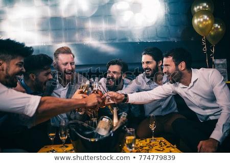 bacharel · festa · ilustração · sensual · homens · grupo - foto stock © adrenalina