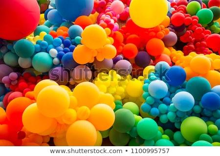 Renkli balonlar aile dans dizayn mavi Stok fotoğraf © koya79