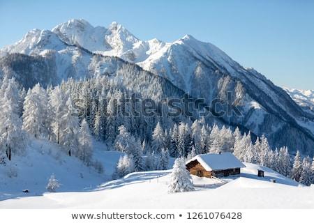 高山 古い 建設 雪 山 冬 ストックフォト © limpido