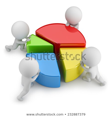 3d small people - teamwork statistics Stock photo © AnatolyM