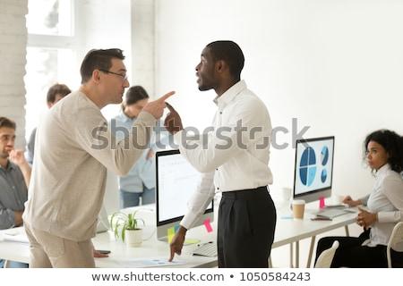 üzletasszony harcol üzletember szemben üzletember szemüveg Stock fotó © Giulio_Fornasar