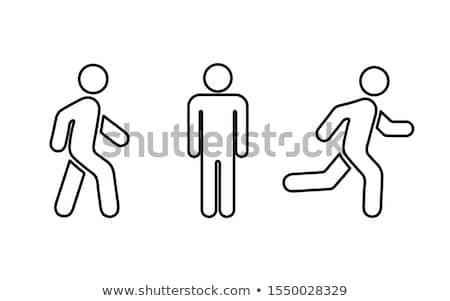 Standing human warning icon. Vector illustration Stock photo © aliaksandra