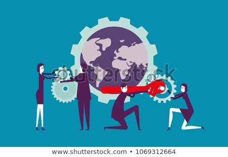 Change Management Concept on the Gears. Stock photo © tashatuvango