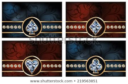 блестящий покер алмазов карт моде фон Сток-фото © carodi
