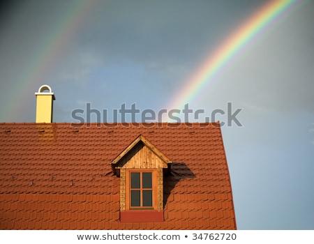 Arco-íris telhados Copenhague Dinamarca céu paisagem Foto stock © Arrxxx