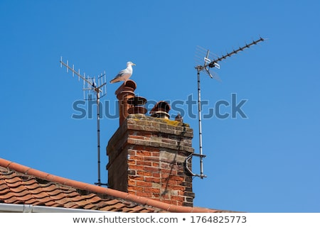 телевизор антенна Blue Sky небе металл спутниковой Сток-фото © lucielang