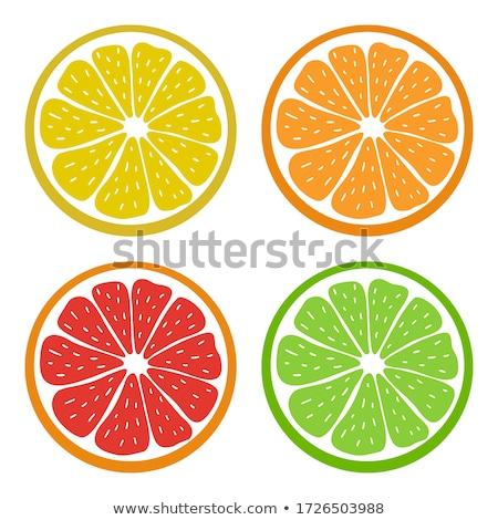 Owoce cytrusowe wapno ikona charakter owoców pomarańczowy Zdjęcia stock © Anna_leni