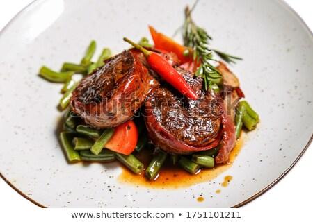 Cut · Ломтики · томатный · листьев · Салат · продовольствие - Сток-фото © oleksandro