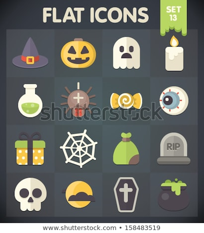 Halloween Potion Flat Icon Stock photo © Anna_leni