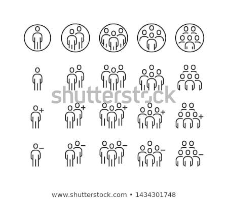 Mensen vriend icon zakenman teken mannen Stockfoto © Kheat