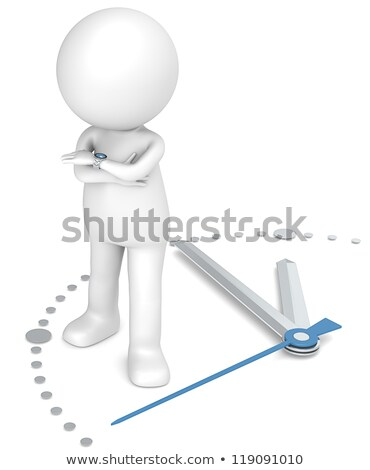 3d small people   time is money stock photo © anatolym