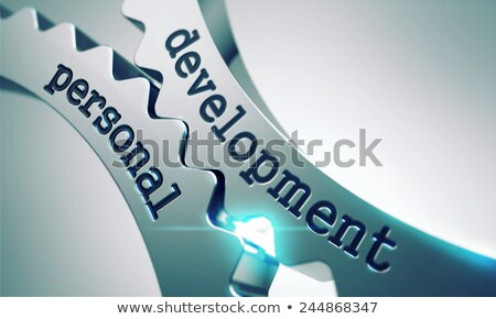 personal development on metal gears stock photo © tashatuvango